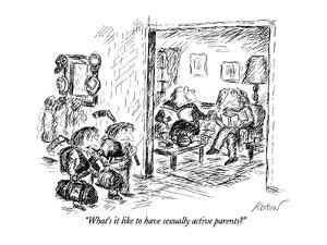 """""""What's it like to have sexually active parents?"""" - New Yorker Cartoon by Edward Koren"""