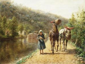 On the Towpath by Edward Lamson Henry