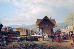 The 9:45 Accommodation, 1867 by Edward Lamson Henry