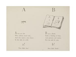 Ant and Book Illustrations and Verse From Nonsense Alphabets by Edward Lear. by Edward Lear
