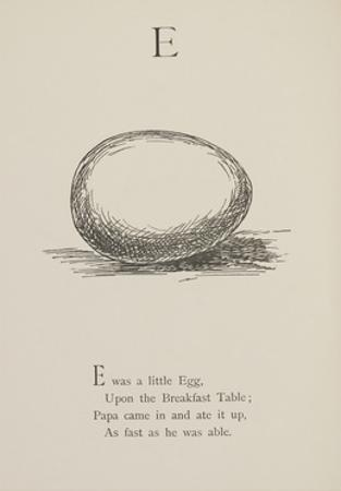 Egg Illustrations and Verses From Nonsense Alphabets Drawn and Written by Edward Lear.