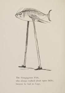 Fish On Stilts From Nonsense Botany Animals and Other Poems Written and Drawn by Edward Lear by Edward Lear