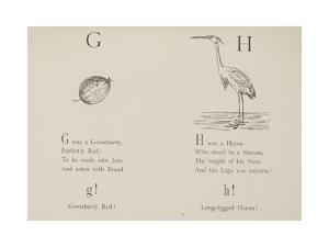 Gooseberry and Heron Illustrations and Verse From Nonsense Alphabets by Edward Lear. by Edward Lear