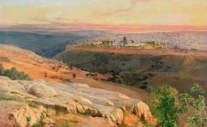 Jerusalem from the Mount of Olives, 1859 by Edward Lear