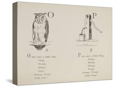 Owl and Pump Illustrations and Verses From Nonsense Alphabets Drawn and Written by Edward Lear.