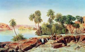 Philae on the Nile by Edward Lear