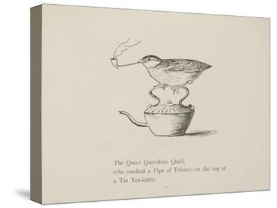 Quail Perched On Teapot, Smoking a Pipe From a Collection Of Poems and Songs by Edward Lear