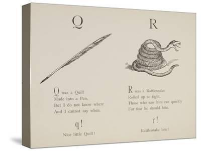 Quill and Rattlesnake From Nonsense Alphabets Drawn and Written by Edward Lear.