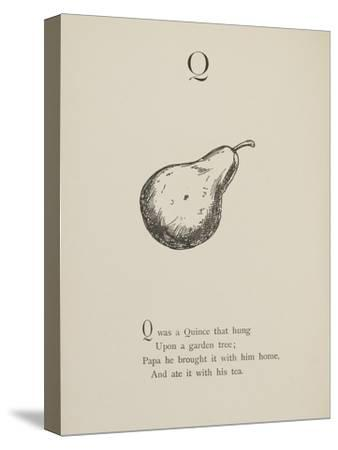 Quince Illustrations and Verses From Nonsense Alphabets Drawn and Written by Edward Lear.