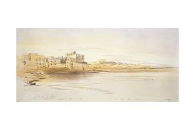 St Julian's Bay, Malta, 1866 (Pen and Brown Ink with Graphite and Watercolours on Off-White Paper)