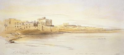 St Julian's Bay, Malta, 1866 (Pen and Brown Ink with Graphite and Watercolours on Off-White Paper) by Edward Lear