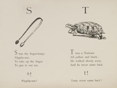Sugar-tongues and Tortoise From Nonsense Alphabets Drawn and Written by Edward Lear.