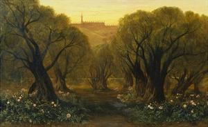 The Garden of Gethsemane by Edward Lear