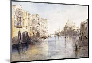 The Grand Canal, with Santa Maria Della Salute, Venice, Italy, 1865 by Edward Lear