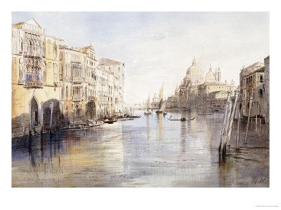 The Grand Canal, with Santa Maria Della Salute, Venice, Italy, 1865