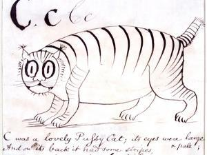 The Letter C of the Alphabet, c.1880 Pen and Indian Ink by Edward Lear