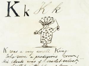 The Letter K of the Alphabet, c.1880 Pen and Indian Ink by Edward Lear