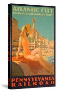 Atlantic City Poster by Edward M^ Eggleston