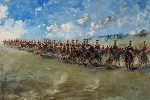 16th Lancers Advancing at Gallop, 1898 by Edward Matthew Hale