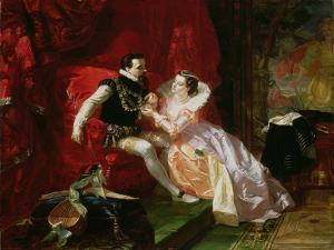 Leicester and Amy Robsart at Cumnor Hall, 1866 by Edward Matthew Ward