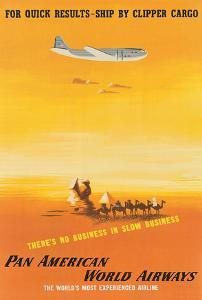 For Quick Results, Ship By Clipper Cargo - Pan American World Airways by Edward McKnight Kauffer