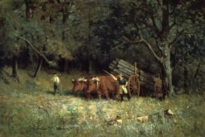 Driving Home the Cows, 1881 by Edward Mitchell Bannister
