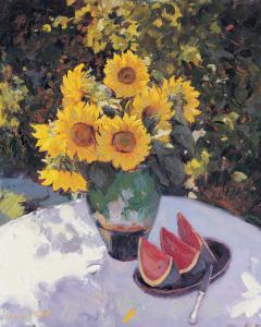 Sunflowers by Edward Noott