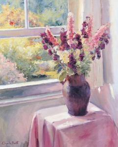 Vase with Flowers by Edward Noott