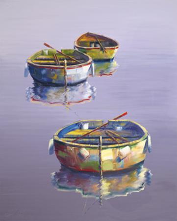 3 Boats Purple by Edward Park
