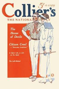 Collier's, The National. The House Of Devils. by Edward Penfield