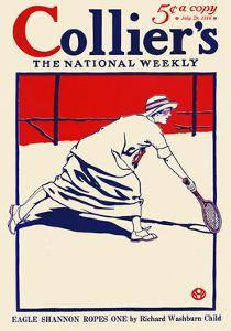 Collier's, The National Weekly, Eagle Shannon Ropes One By Richard Washburn Child by Edward Penfield