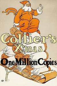 Collier's X'mas, One Million Copies by Edward Penfield