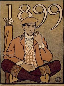 Golf Calendar, Poster, 1899 by Edward Penfield