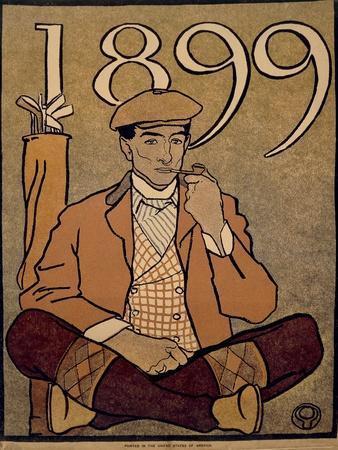 Golf Calendar, Poster, 1899