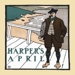 Harper's April by Edward Penfield