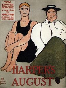 Harper's August, 1896 by Edward Penfield