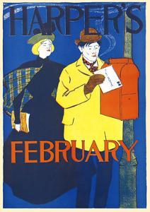 Harper's February by Edward Penfield
