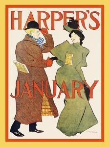 Harper's January by Edward Penfield