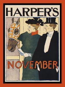 Harper's November by Edward Penfield