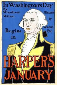 In Washington's Day By Woodrow Wilson Begins In Harper's January by Edward Penfield