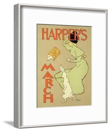 """Reproduction of a Poster Advertising """"Harper's Magazine, March Edition,"""" American, 1894"""