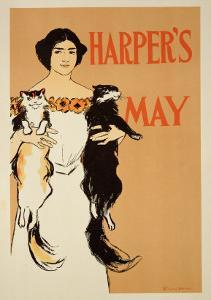 """Reproduction of a Poster Advertising the May Issue of """"Harper's Magazine,"""" 1897 by Edward Penfield"""