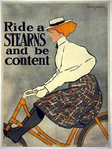 Ride a Stearns and Be Content, C.1896 by Edward Penfield