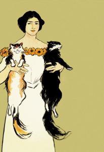 Springtime Felines by Edward Penfield