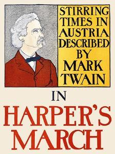 Stirring Times in Austria Described by Mark Twain in Harper's March by Edward Penfield