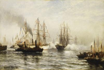 Reception of the Isere in New York Bay, June 20, 1885, 1885