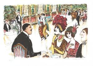 Cafe with Tango Dancers by Edward Plunkett