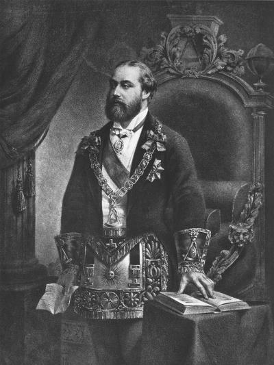Edward Prince of Wales, Later Edward VII, as Grand Master of Freemasonry, 1884--Giclee Print