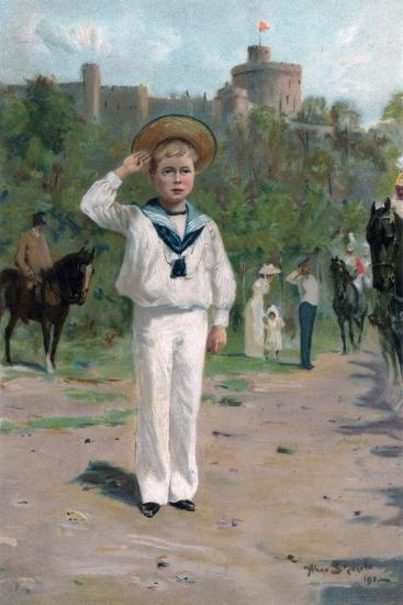 Edward, Prince of Wales, Saluting the Colours, 1902--Giclee Print