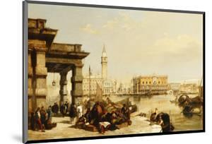 View of St. Marks from the Punta Della Dogana, Venice by Edward Pritchett